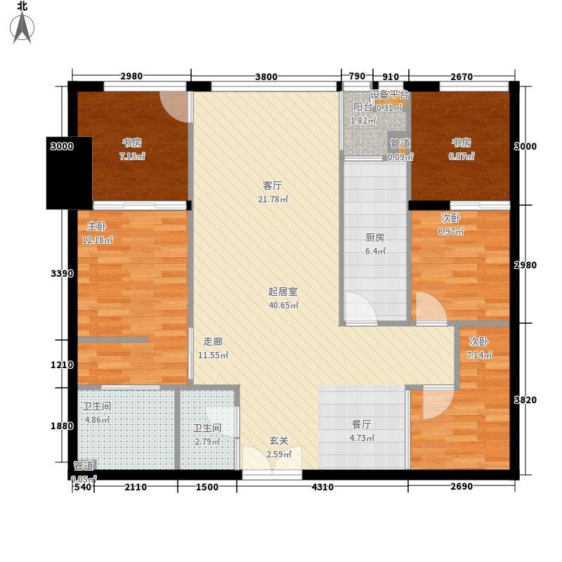 森地国际143.97㎡G户型3室2厅2卫1厨
