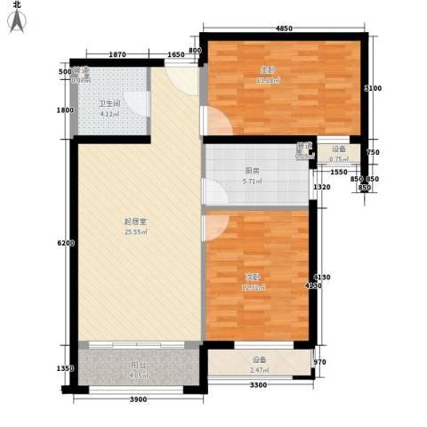 怡水花园三期2室0厅1卫1厨98.00㎡户型图