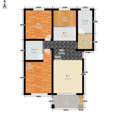 石龙旧城区住宅2室0厅2卫1厨100.00㎡户型图