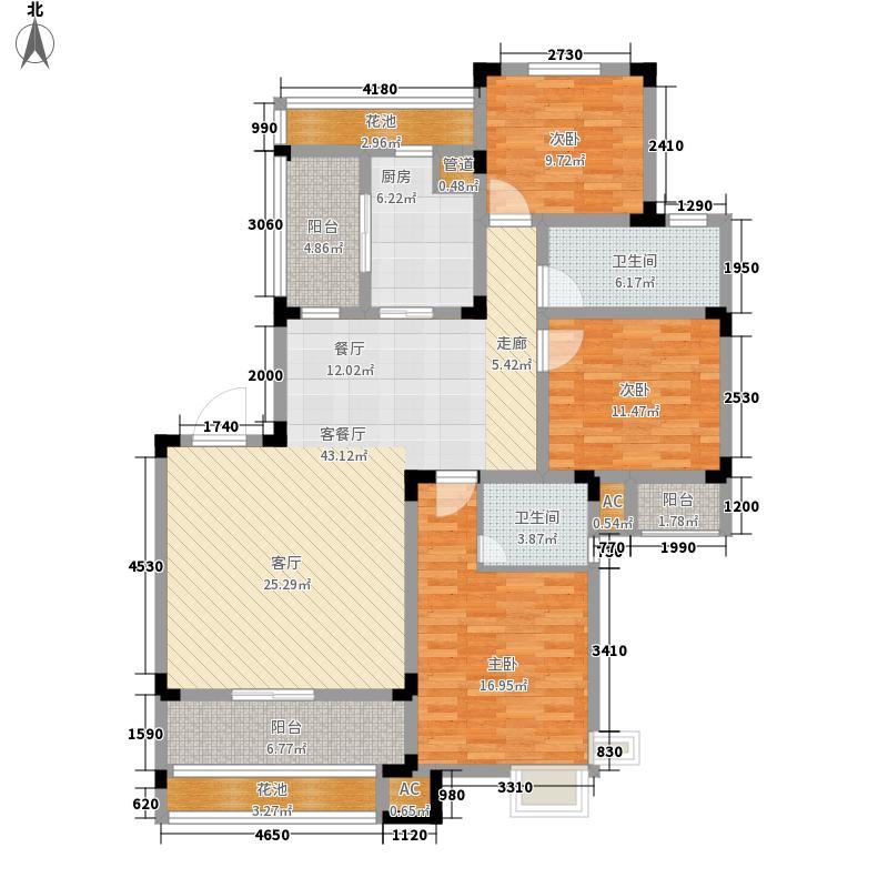 芙蓉山庄143.00㎡芙蓉山庄户型图洋房Y1户型10室