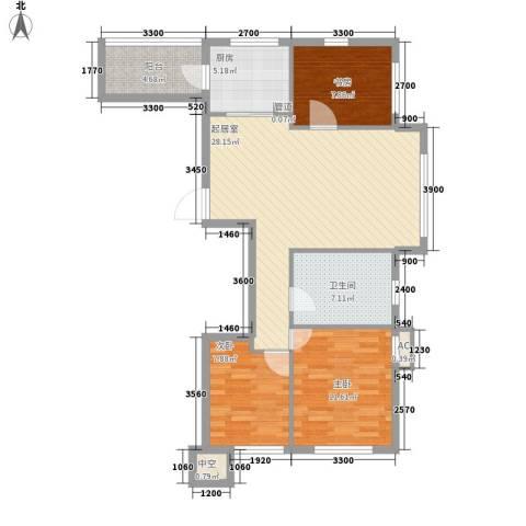 海悦花都3室0厅1卫1厨101.00㎡户型图