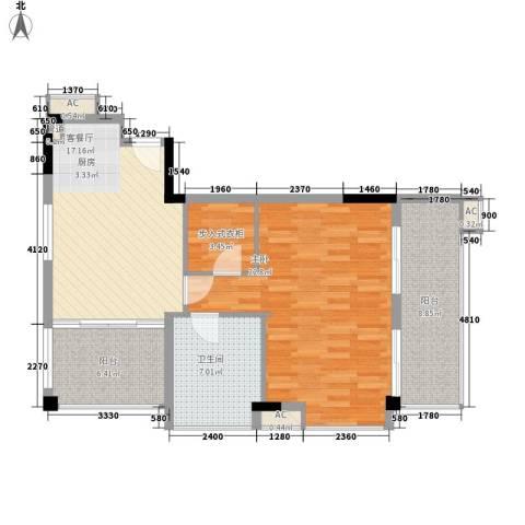 太湖天城1室1厅1卫0厨95.00㎡户型图