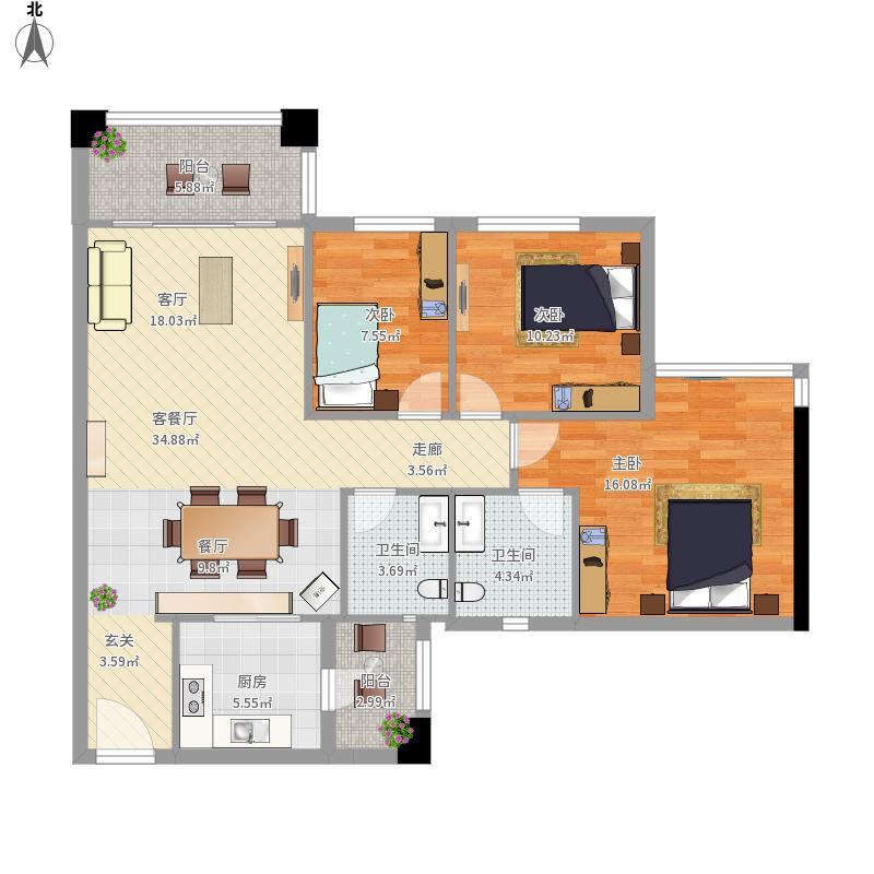 B1-2-1101复式一楼