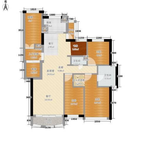 尊尚海的GOLF3室0厅2卫1厨75.00㎡户型图
