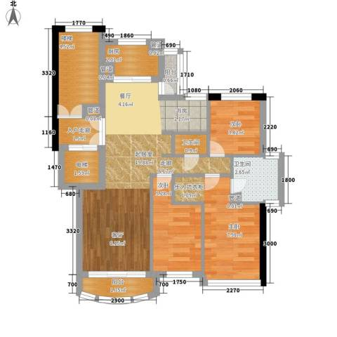 尊尚海的GOLF3室0厅2卫1厨80.00㎡户型图