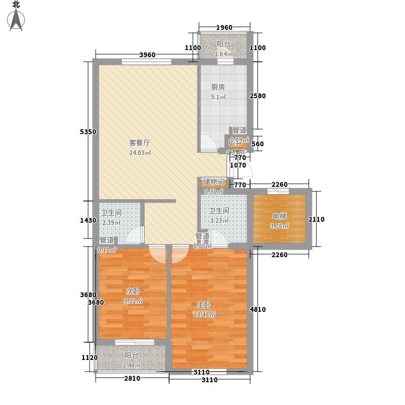 东七卫材厂宿舍74.00㎡东七卫材厂宿舍2室户型2室