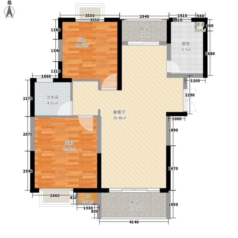 新天地华庭二期118.00㎡新天地华庭二期3室户型3室