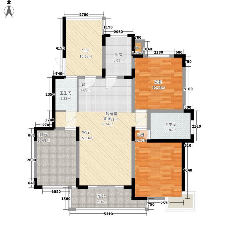 众森清华锦园112.00㎡C户型2室2厅2卫1厨