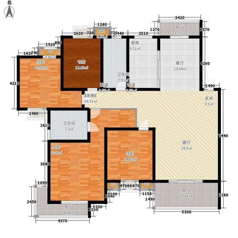 石浦花园200.00㎡石浦花园5室户型5室