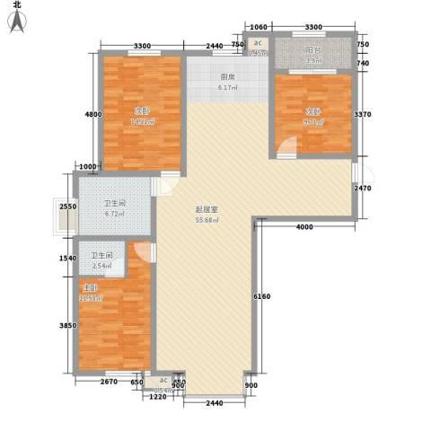 长春理工大学家属楼3室0厅2卫0厨118.25㎡户型图