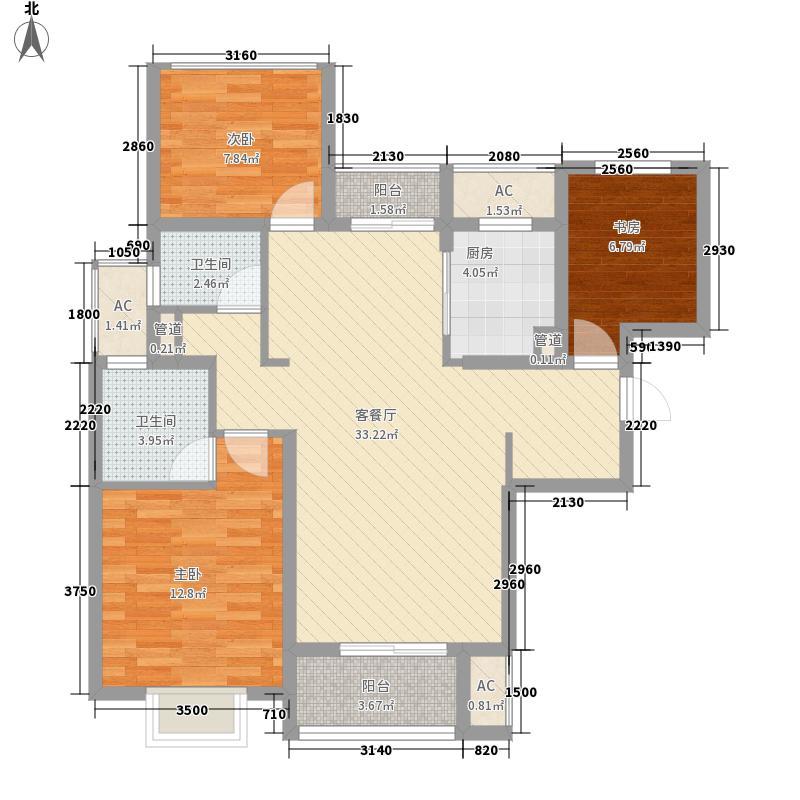 中锐姑苏尚城中锐姑苏尚城户型图B2户型2+1房115㎡户型10室