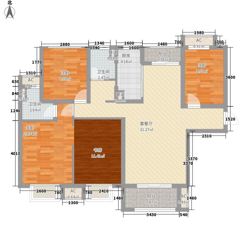 中锐姑苏尚城中锐姑苏尚城户型图C户型3+1房132㎡户型10室