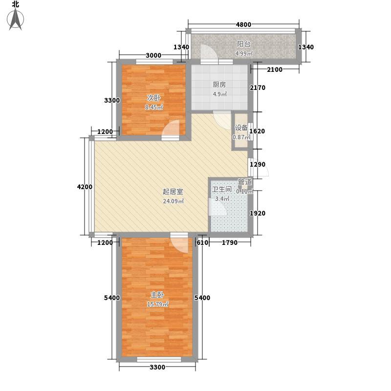红田美林居红田美林居户型图御庭苑组团B户型2室1厅1卫83.98㎡户型2室1厅1卫