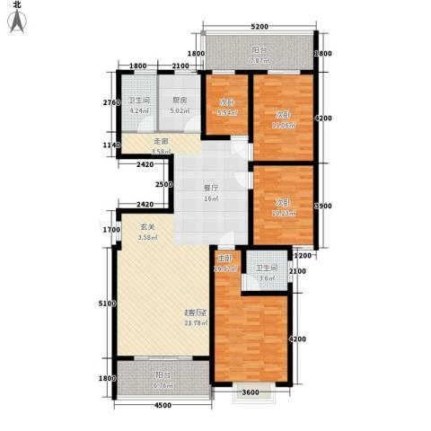 嘉盛逸林园4室0厅2卫1厨143.00㎡户型图