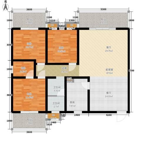 嘉盛逸林园4室0厅1卫1厨141.00㎡户型图