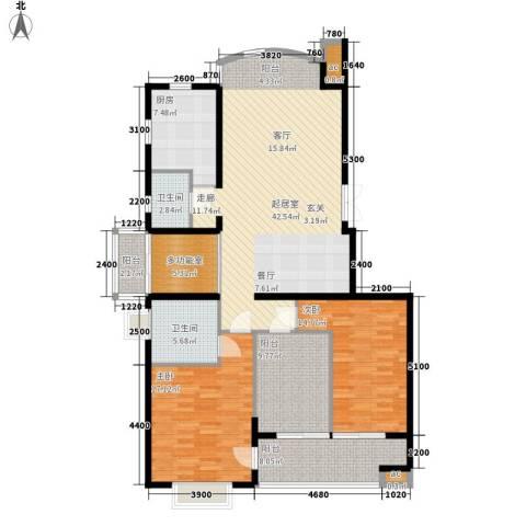 向阳门第2室0厅2卫1厨148.00㎡户型图