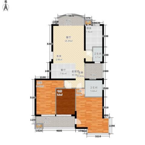 向阳门第3室0厅2卫1厨149.00㎡户型图