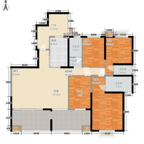 书院观邸4室0厅3卫1厨198.00㎡户型图
