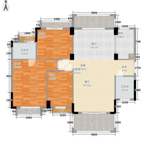 香格里嘉园3室0厅2卫1厨153.00㎡户型图