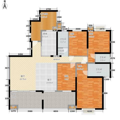 书院观邸4室0厅3卫1厨235.00㎡户型图