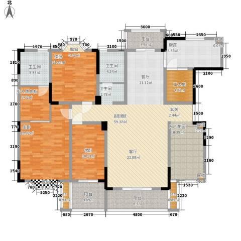 白沙世纪佳园3室0厅2卫1厨170.00㎡户型图