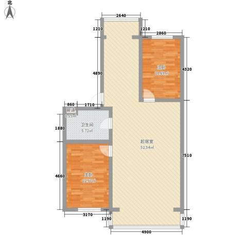伊江丽景花园2室0厅1卫0厨115.00㎡户型图