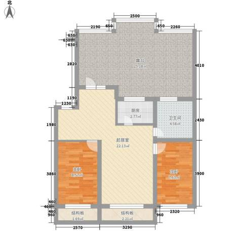伊江丽景花园2室0厅1卫1厨108.00㎡户型图