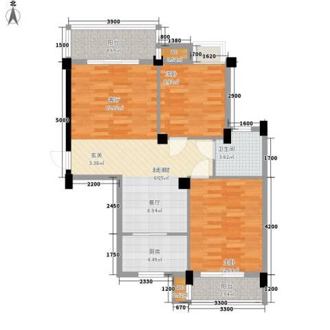 芳卉园二期2室0厅1卫1厨129.00㎡户型图