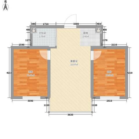 天一朝阳地矿花园2室0厅1卫0厨69.00㎡户型图