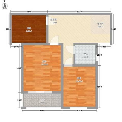 同科・汇丰国际3室0厅1卫0厨173.00㎡户型图