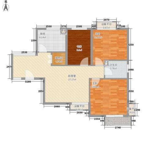 上域逸庭苑3室0厅1卫1厨88.00㎡户型图