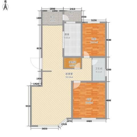 威尼斯花园2室0厅1卫1厨127.00㎡户型图
