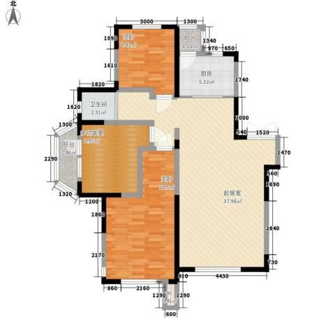 南湖祥水湾2室0厅1卫1厨122.00㎡户型图