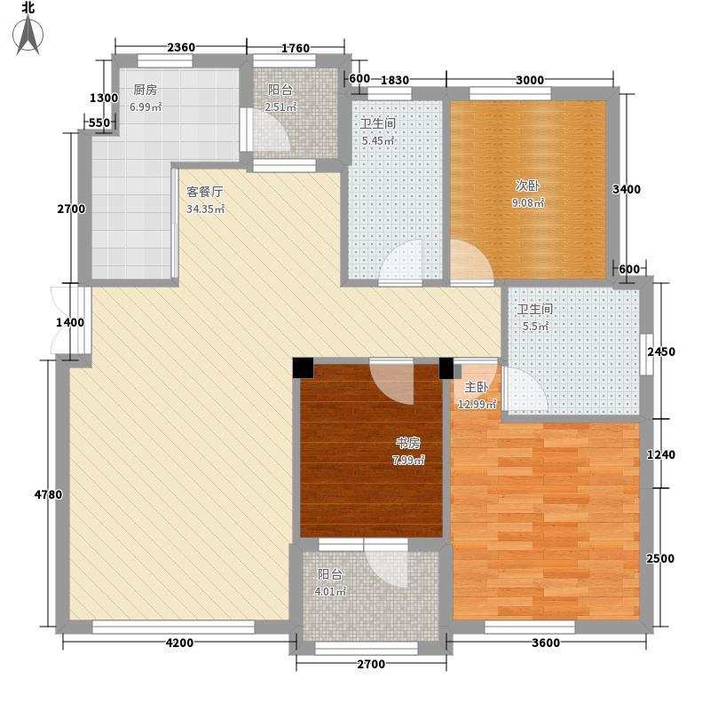 海紫苑海紫苑3室户型3室