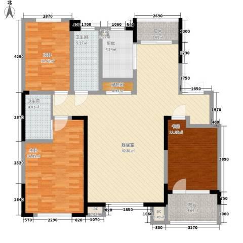 南湖祥水湾3室0厅2卫1厨151.00㎡户型图