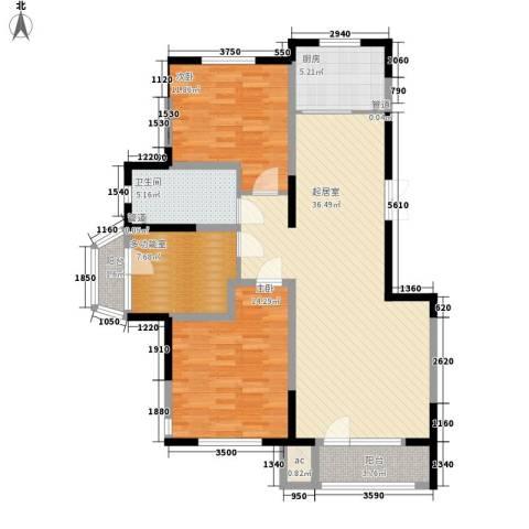 南湖祥水湾2室0厅1卫1厨124.00㎡户型图