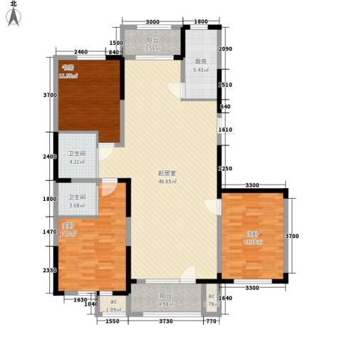 南湖祥水湾3室0厅2卫1厨144.00㎡户型图
