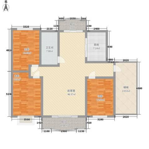万泉水郡3室0厅1卫1厨180.00㎡户型图
