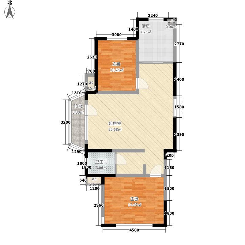 南湖祥水湾101.14㎡南湖祥水湾户型图高层翡翠座16#楼B户型图2室2厅1卫户型2室2厅1卫