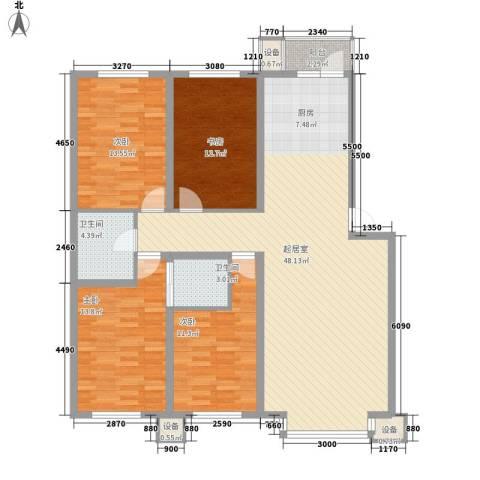 大禹城邦4室0厅2卫0厨158.00㎡户型图