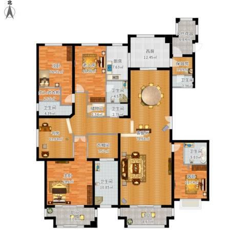 绿地・内森庄园5室1厅6卫1厨358.00㎡户型图
