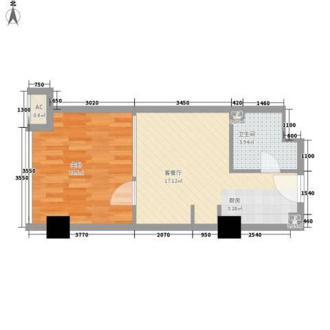 金隅可乐1室1厅1卫0厨51.00㎡户型图