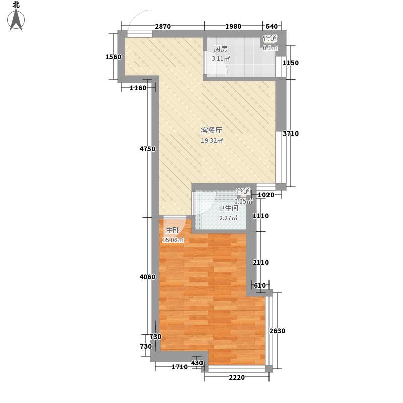 风华时代户型图1室1厅1卫