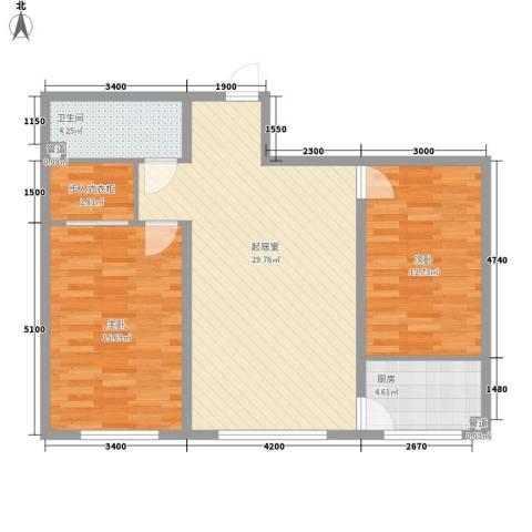 长春理工大学家属楼2室0厅1卫1厨78.17㎡户型图