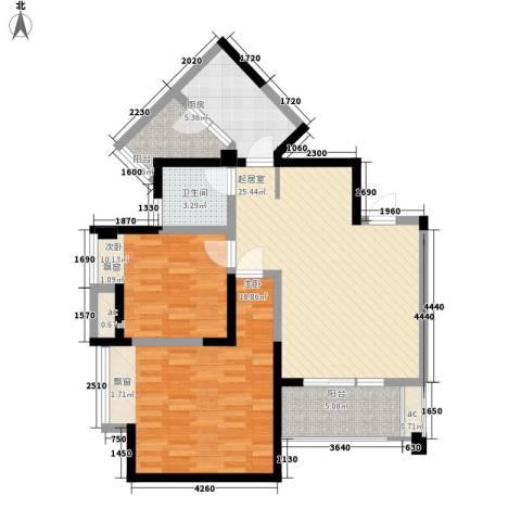 英郡三期2室0厅1卫1厨79.00㎡户型图