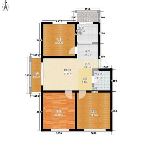 天一家源19533室0厅1卫1厨109.00㎡户型图