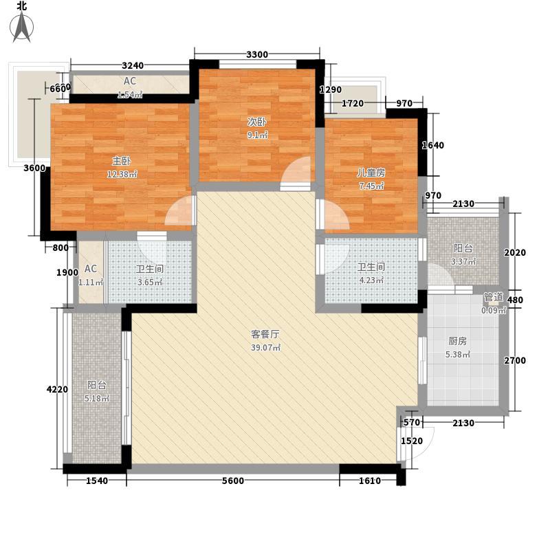 新好景花园新好景花园户型图303室2厅2卫1厨户型3室2厅2卫1厨