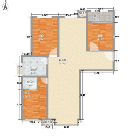 西昌小区3室0厅2卫0厨146.00㎡户型图
