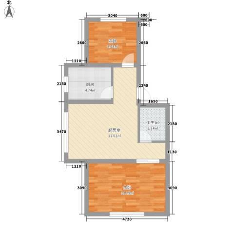 伊江丽景花园2室0厅1卫1厨65.00㎡户型图