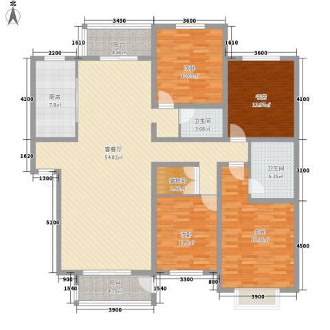 湖光科技新村4室1厅2卫1厨198.00㎡户型图
